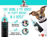 Premium Pet Dental Spray (Large - 8oz): Best Way To Eliminate Bad Dog Breath & Bad Cat Breath! Naturally Fights Plaque, Tartar & Gum Disease
