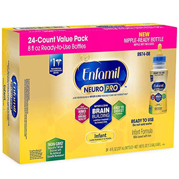 Enfamil NeuroPro Infant Formula, Ready to Feed (8 fl. oz., 24 pk.)