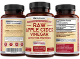 High Strength Raw Apple Cider Vinegar Capsules with Mother 1500mg ACV Diet Pills Detox Support