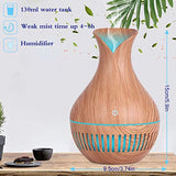 HBorna Essential Oil Diffuser, 130ml Mini Portable Aromatherapy Wood