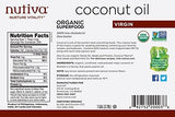 Nutiva Organic, Cold-Pressed, Unrefined, Virgin Coconut Oil from Fresh, non-GMO, Sustainably Farmed Coconuts, 1-gallon