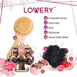 Lovery's Spa Gift Basket Bath & Shower Caddy - 11 Piece Set - Fresh Peny and Jasmine Fragrance - Paraben & Cruelty Free