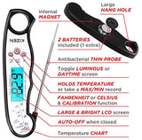 Kizen Instant Read Meat Thermometer - Best Waterproof Ultra Fast Thermometer with Backlight & Calibration