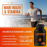 Premium L Arginine 1500mg Nitric Oxide Supplement - Extra Strength for Energy, Muscle Growth, Heart Health, Vascularity & Stamina 60 Capsules