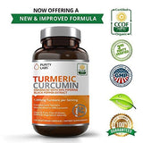 Turmeric Curcumin Capsules – 120 Count 1100mg Serving, Tumeric Supplement Organic with Piperine Black Pepper Extract