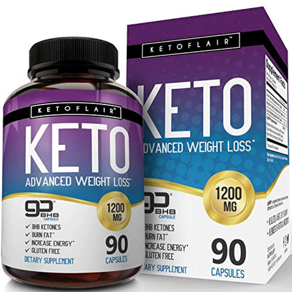 Best Keto Diet Pills GoBHB 1200mg, 90 Capsules - Ultra Fast Pure Keto Boost Ketosis Supplement