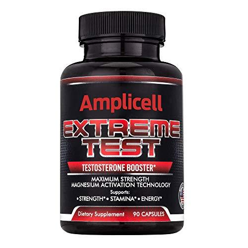 Amplicell Extreme Test Testosterone Booster New 2019 Formula, Supports Healthy Weight Loss Contains EstroX 90 Count