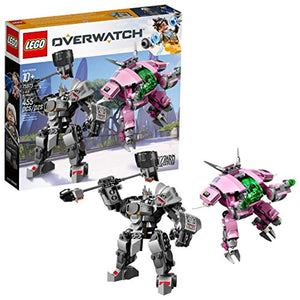LEGO Overwatch D.Va and Reinhardt 75973 Mech Building Kit