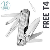 LEATHERMAN - FREE T4 Multitool and EDC Pocket Knife with Magnetic Locking and One Hand Accessible Tools