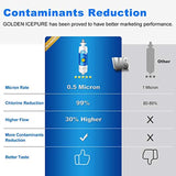 GOLDEN ICEPURE NSF Certified Refrigerator Water Filter