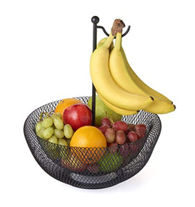 Banana Hook Mesh Fruit Bowl 1 Size Black