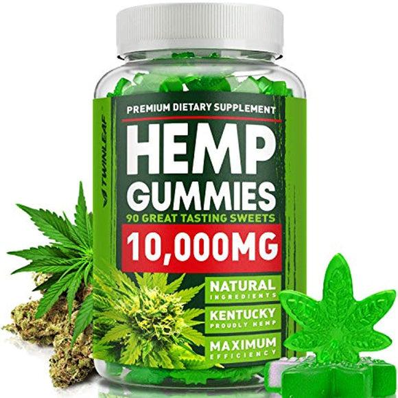 Omega 3, 6 & 9 Gummies 10000 MG - Premium Herbal Extract - Pain, Stress & Anxiety Relief - Made in The USA