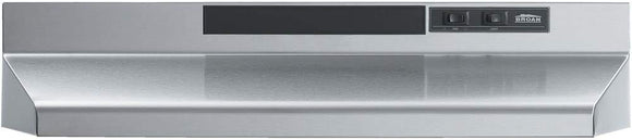Broan F403004 Two-Speed Four-Way Convertible Range Hood, Stainless Steel