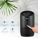 PARTU HEPA Air Purifier - Smoke Air Purifiers for Home with Fragrance Sponge - 100% Ozone Free, Lock Set