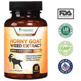 Horny Goat Weed Premium Extract for Men & Women 1560mg with Maca - 1000mg Epimedium with Icariins, L-Arginine, Saw Palmetto