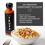 TRUFF Hot Sauce, Gourmet Hot Sauce with Ripe Chili Peppers, Black Truffle, Organic Agave Nectar, 6 oz Bottle