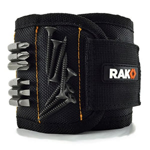 RAK Magnetic Wristband with Strong Magnets for Holding Screws, Nails, Drill Bits - Best Unique Christmas Gift for Men, DIY Handyman