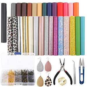 SGHUO 30pcs Leather Earring Making Kit