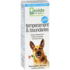 Siddha Flower Essences Temperment and Boundaries Pets, 1 Ounce