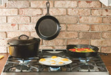 Lodge Seasoned Cast Iron Skillet with 2 Loop Handles