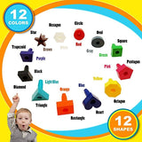 Skoolzy Peg Board Toddler Stacking Toys - STEM Color Sorting Learning Games - Montessori Toys