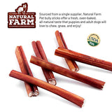 Natural Farm Pet Bully Sticks, Farm-Raised Beef Dog Treats | Odor-Free, Grain-Free | Fully Digestible Chews for Small, Medium, Large Breeds