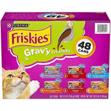 A Product of Purina Friskies Gravy Pleasers, Variety Pack (5.5 oz., 48 ct.)