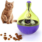 None Brand Cat/Dog Interactive Toys - Cat/Dog Food Dispensing Toys Ball,Interactive Cat/Dog Toys Exercise Thinking Improve Intelligence IQ Food Toys Ball Purple/Blue