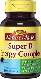 Nature Made Super B Complex Full Strength Softgel, 60 Ct