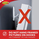 Command Wire Hooks, 16 hooks, 24 strips, White, Small, Easy to Open Packaging (GP067-16NA)
