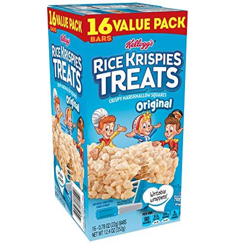 Kellogg's Rice Krispies Treats, Crispy Marshmallow Squares, Original, Value Pack, 0.78 oz Bars (16 Count) (Pack of 5)