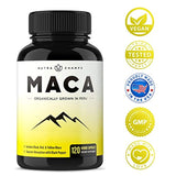 Organic Maca Root Powder Capsules - 1000mg Peru Grown - Energy, Performance, Mood & Drive Supplement for Men & Women - Vegan Pills