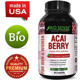 Acai Berry Antioxidant Support Weight Loss Supplement for Women and Men ? Vitamins + Minerals + Antioxidant Formula