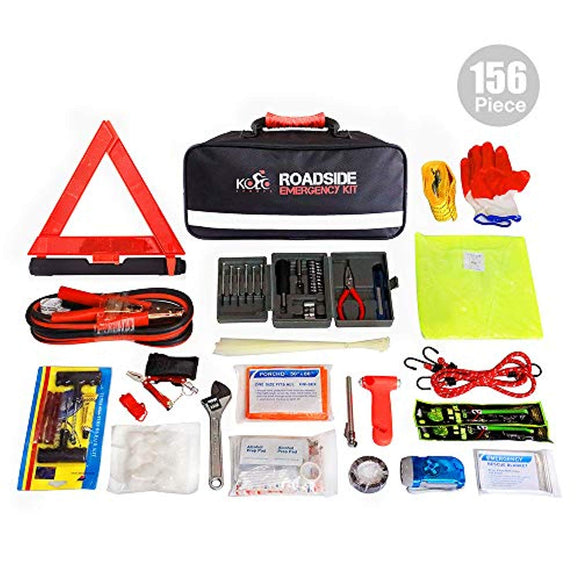 Kolo Sports 156-Piece Premium Auto Emergency Kit Multipurpose Emergency Pack