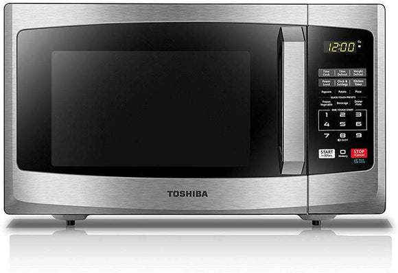 Toshiba EM925A5A-BS Microwave Oven with Sound On/Off ECO Mode and LED Lighting, 0.9 Cu.ft