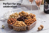 Gourmet Nuts Gift Baskets Large 7-Sectional Delicious Variety Mixed Nuts Premium Gift