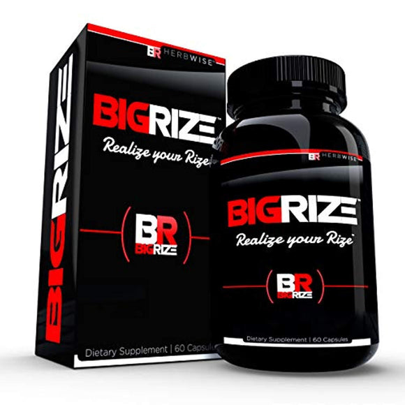 Bigrize Top Rated Male Pills, 60 Capsules - Enhance Energy, Mood, Vitality