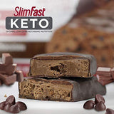 SlimFast Keto Meal Replacement Bar, Whipped Triple Chocolate, 1.48oz, 5 Bars per Box
