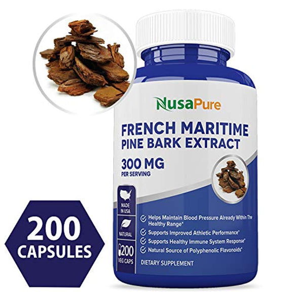 French Maritime Pine Bark Extract 300mg 200 Veggie Capsules