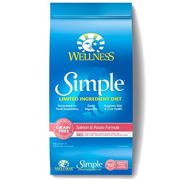 Wellness Simple Natural Grain Free Dry Limited Ingredient Dog Food, Salmon & Potato