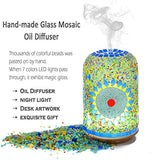 Vyaime Hand-inlay Essential Oil Diffuser Handmade Glass Mosaic Decoration