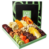 Nut and Dried Fruit Gift Basket, Healthy Gourmet Snack Food Box