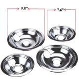 "Kitchen Basics 101 4 Pack Chrome (2) 6"" & (2) 8"" Replacement for GE/Hotpoint Electric Range"