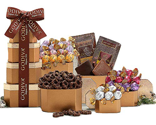 Wine Country Gift Baskets Godiva Milk and Dark Chocolate Tower