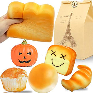 Beestech Jumbo Bread Squishy, Huge Giant Bread Squishies Pack, Cream Scented Slow Rising Squishy Toys for Kids, Boys and Girls