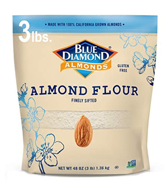Blue Diamond Almond Flour, Gluten Free, Blanched, Finely Sifted 3 lb bag