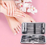 Manicure Pedicure Set (18Pcs), Stainless Steel Manicure Kit, Premium Nail Clipper, Professional Grooming Kit, Nail Tools with Luxurious Travel Case