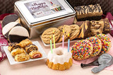 Dulcet Gift Basket Happy Birthday Tin-Sprinkle Cookies