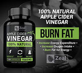 100% Natural Raw Apple Cider Vinegar Pills (1500 mg | 120 Capsules) Pure Apple Cider Vinegar with Cayenne Pepper for Fast Weight Loss Cleanse