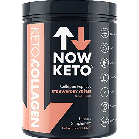 NOW KETO® Keto Collagen™ Peptides w/MCTs Powder
